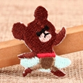 Ballet Bear Custom Embroidered Patches 1