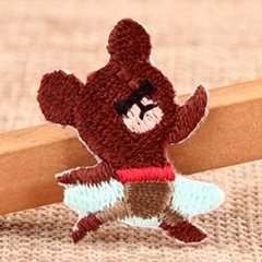 Ballet Bear Custom Embroidered Patches