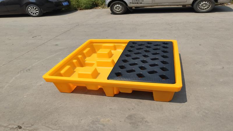 四桶化學品承載托盤 防洩漏棧板 2