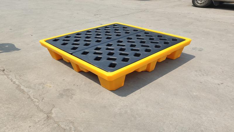 四桶化學品承載托盤 防洩漏棧板 4