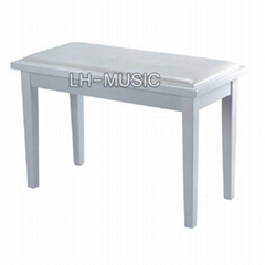 Double piano stool with storage box
