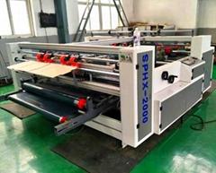 Combined Pressure Type Corrugated Carboard Folder Gluer carton making machine