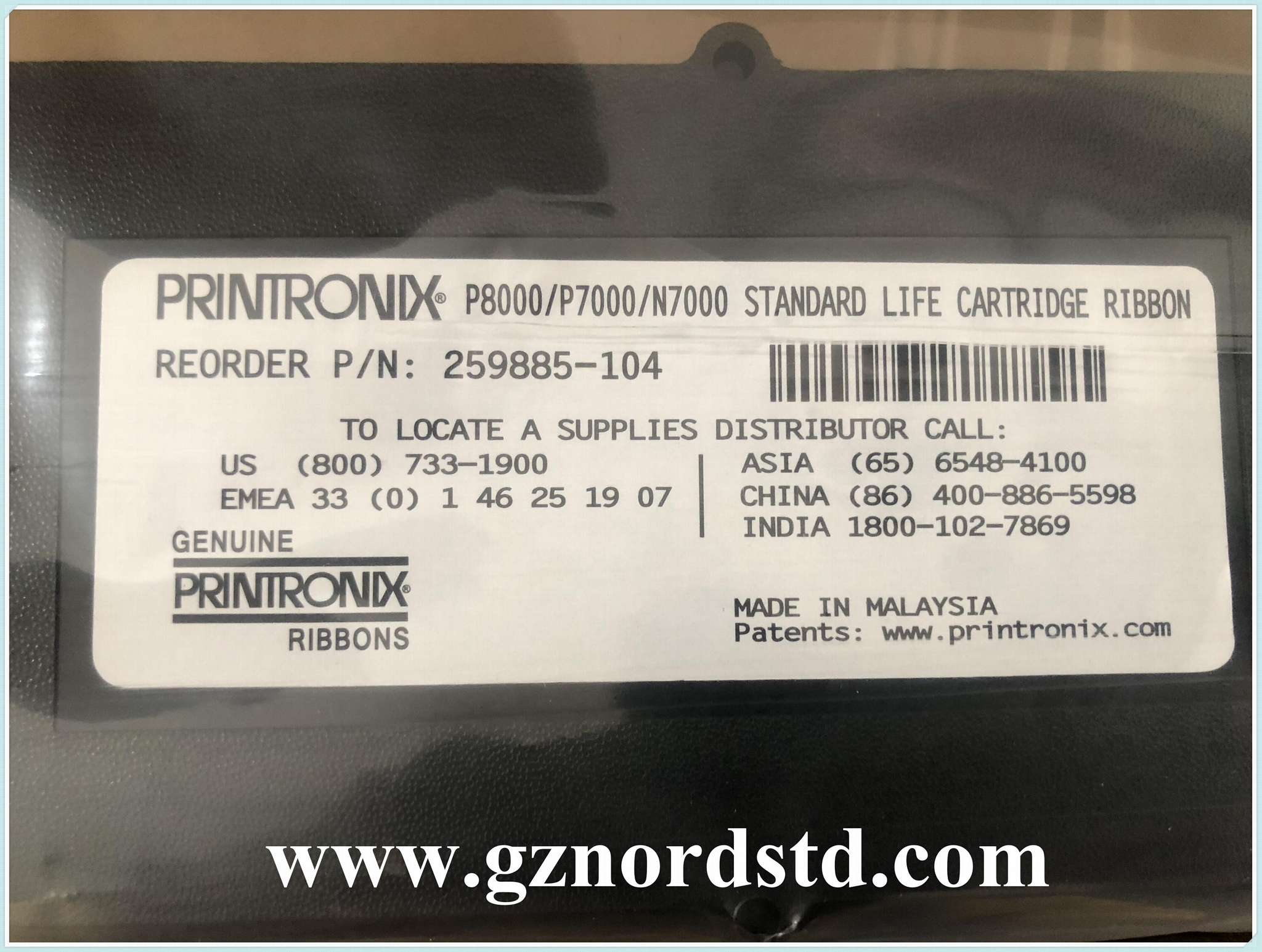 259885-104 New Original Printronix Ribbon Cartridges for P8000 P7000 series 1