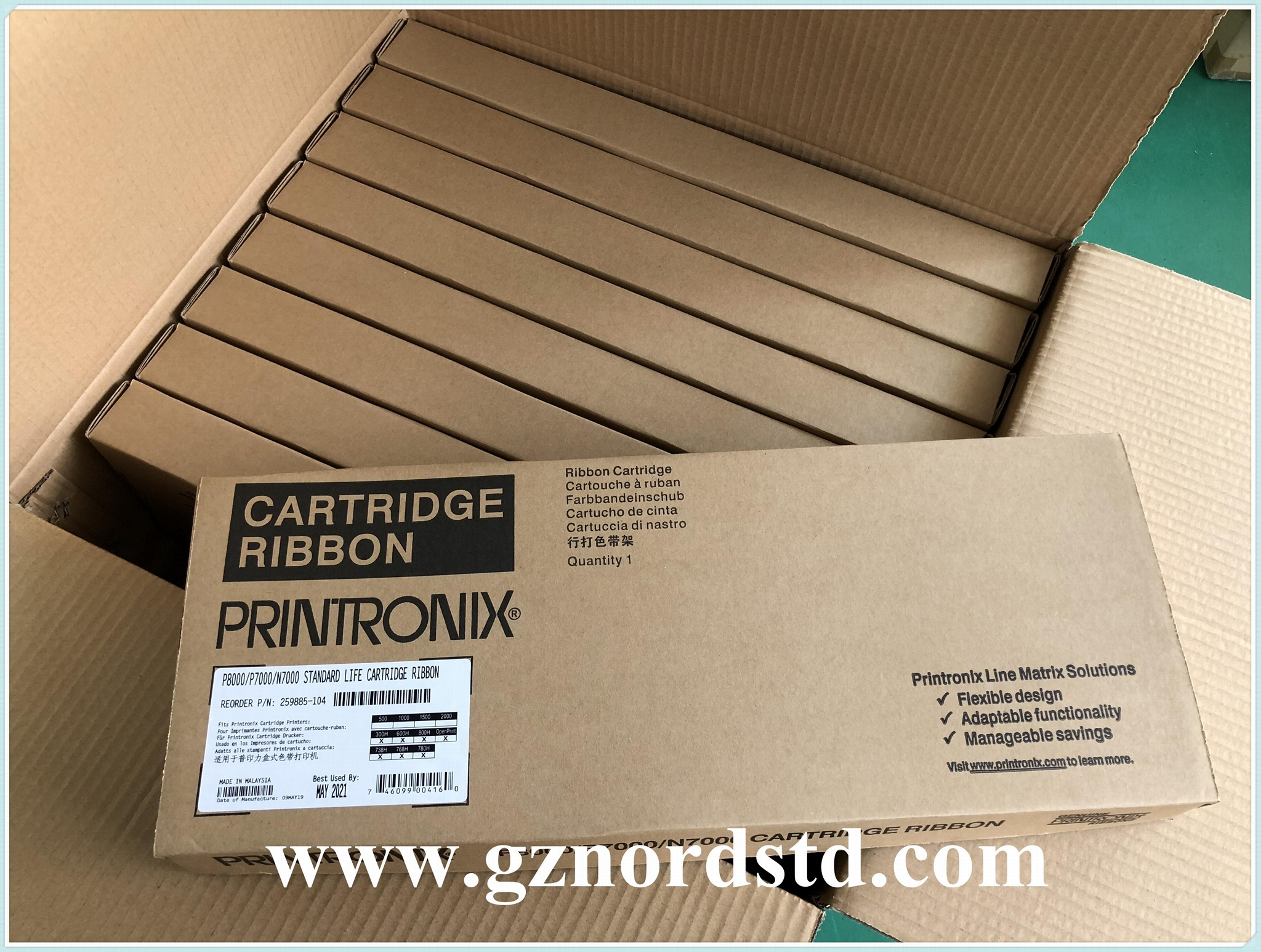 259885-104 New Original Printronix Ribbon Cartridges for P8000 P7000 series 5