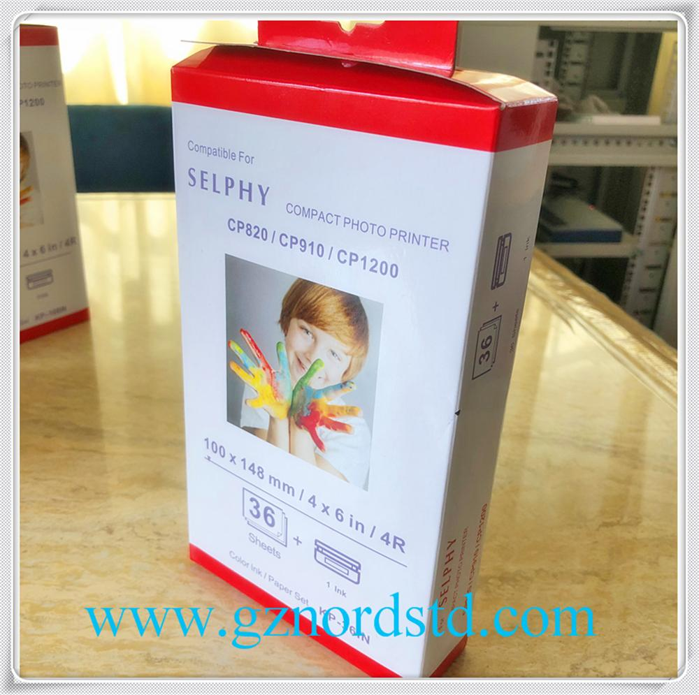 Compatible 3 Ink cartridge and photo paper Canon KP-108IN for Canon SELPHY CP800 2