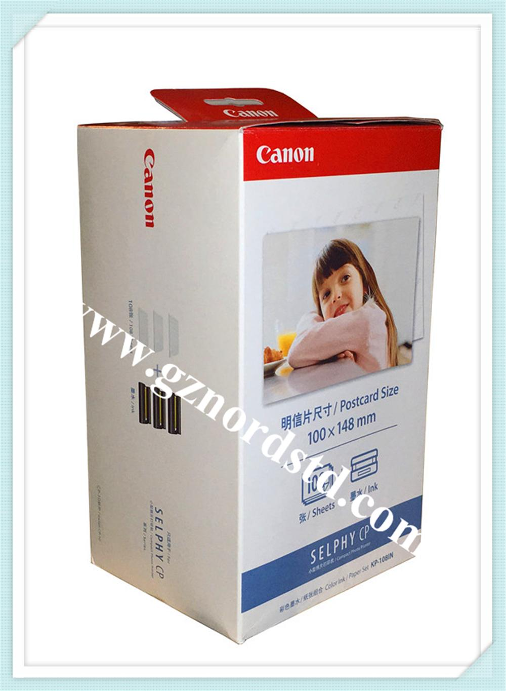 Canon Selphy Color Ink Paper Set Kp-108IN 108 4x6 Sheets with 3 inks 1