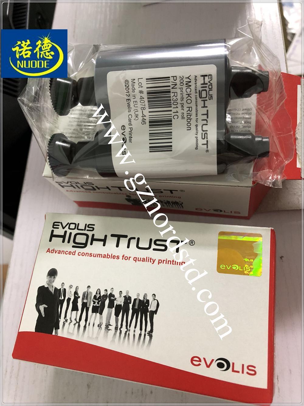 R3011 R3011C Color Ribbon for Evolis Pebble Series Dualys 3 Securion 200 Prints