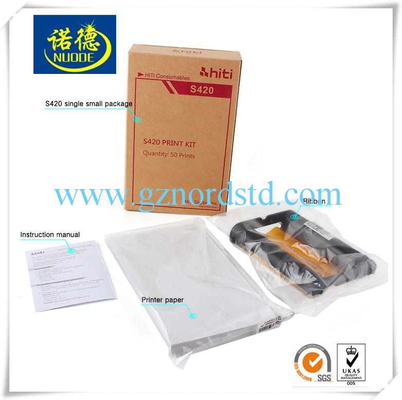 Waterproof HD Quality 300gsm Hiti S420 Photo Paper and Ribbon For Photo Printer  3