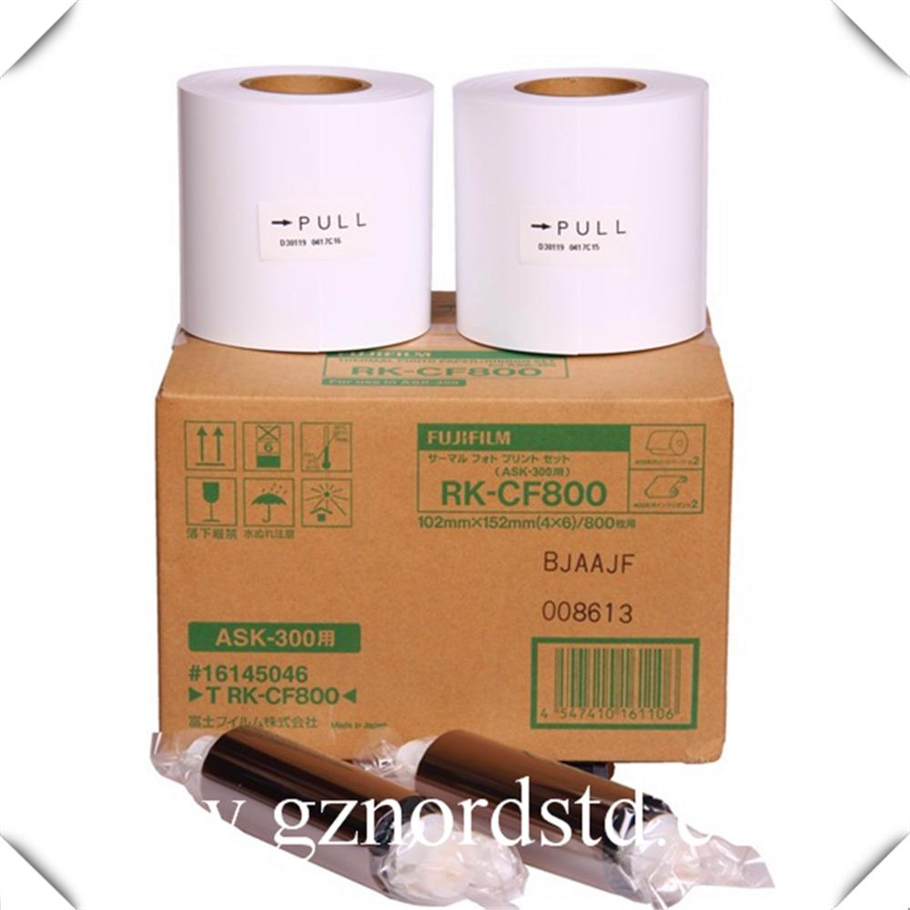 FUJIFILM ASK-300 Color Dye Sub Digital Photo Printer ribbon and Photo Paper 1