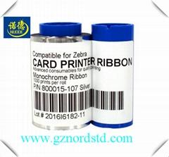Compatible ZEBRA 800015-107 sliver Ribbon 1000 Images for zebra P330i 430i card