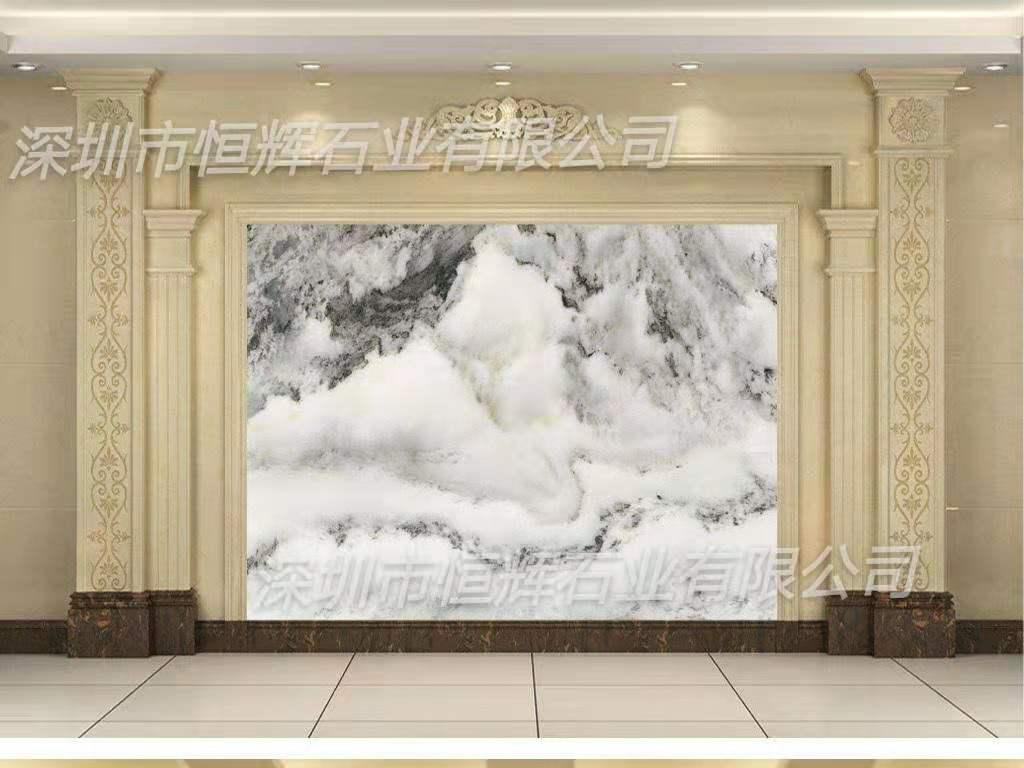 欧式大理石背景墙 1