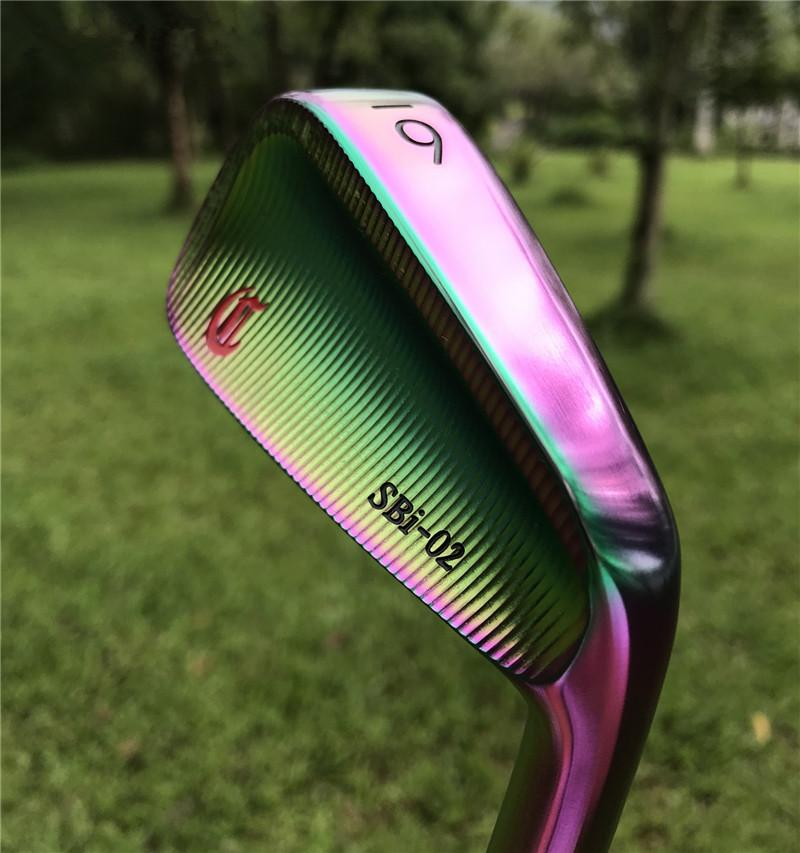 Crazy SBi-02 forged golf irons in irisated color  3