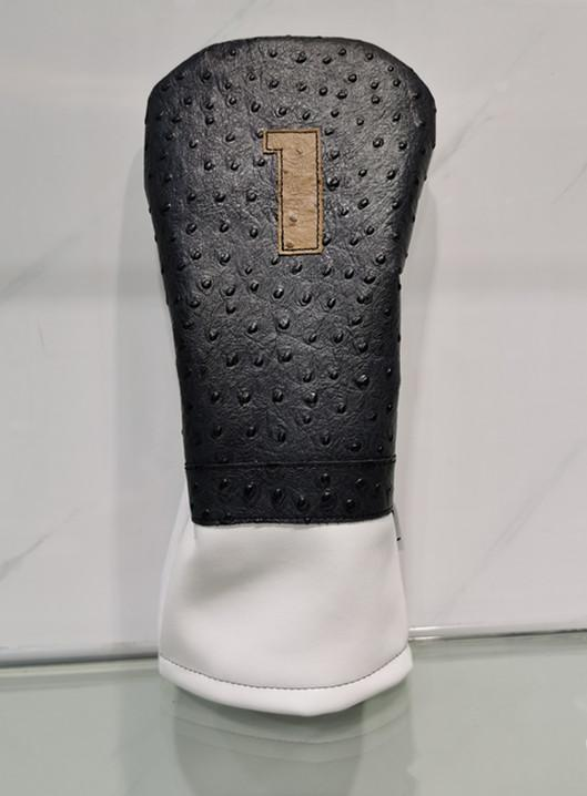 Genuine leather golf driver covers custom logo orders accepted 1