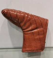 leather golf putter covers custom logo designs accept