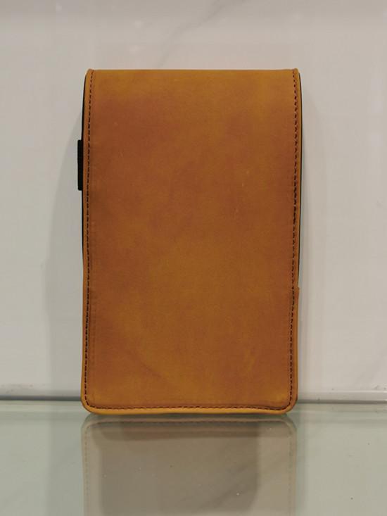 genuine leather golf yardage book scorecard holder with wholesale price 1
