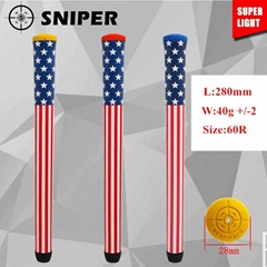 The flag of the united states leather golf putter grip