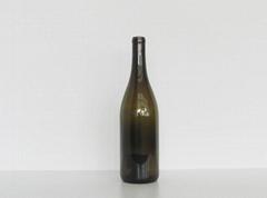 Burgundy Wine Glass Bottle 2059