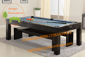 slate bed pool and snooker table