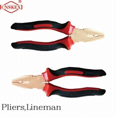 """Non sparking tools Exployion-proof Pliers Lineman Al-cu 8"""" safety hand tools"""