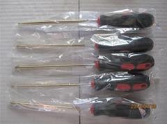 Explosion-proof rubber handle cross 100mm Al-cu