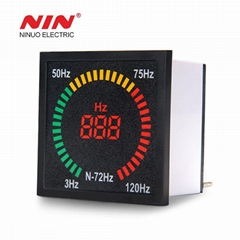 220V 72mm*72mm box shape square indicator frequency meter with led light