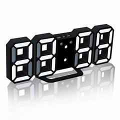 LED Digital 3D Electronic Wall Alarm Clocks Table Desktop Watch