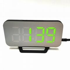 Digital LED Mirror Alarm Clock Multi-Function Electronic Timer