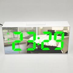 Electronic LED Alarm Clock Large Time Temperature Display