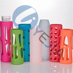 Food Grade Colorful Heat Resistant Anti Slip Water Bottle Silicone Sleeves