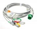 Spacelabs one-piece series 5 lead  ECG cable with leadwires