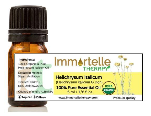 Helichrysum Italicum & Lavender Essential Oils & Floral Water Immortelle Therapy 2