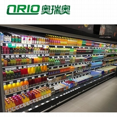 Black White ABS Acrylic Shelf Roller Pusher For Shop Racking Display