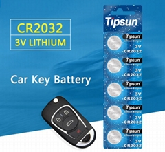 3V lithium button battery CR2032 for remote control