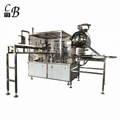Automatic 5 nozzle liquid spout pouch filling capping machine