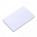 CR80 standard size printbale rfid blank white card