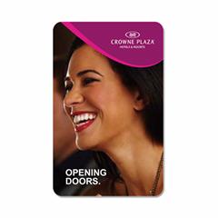 Holiday Inn hotel card for door lock