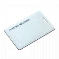 Printing ID rfid clamshell card Tk4100 proximity card thick