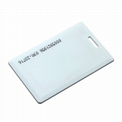 Printing ID rfid clamshell card Tk4100 proximity card thick