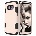 Casing Samsung S8 S9 S10 Golaxy Note 8 9 10 J4 Plus Contrast Color Black Cover