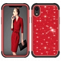 8 Color iPhone XR Hit Color Shiny Bling Good Girl Case Shockproof PC Cover