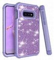 Samsung S10E Glitter Contrast Color Cases for Fashion Good Girl