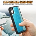 iPhone XS Max XR 6 6s 7 8 Plus Cards Slot Genine Leather Wallet Cover