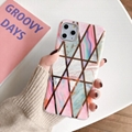 Stylish Marble Design Soft TPU Case Plating Back Cover for iPhone
