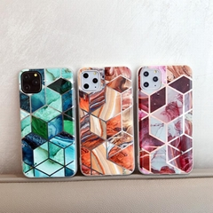 High Quality Marble Electroplating Stitching Case Luxury Phone Cover