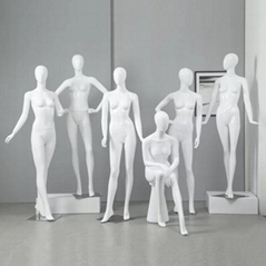 Fashion abstract egg head full body female mannequin