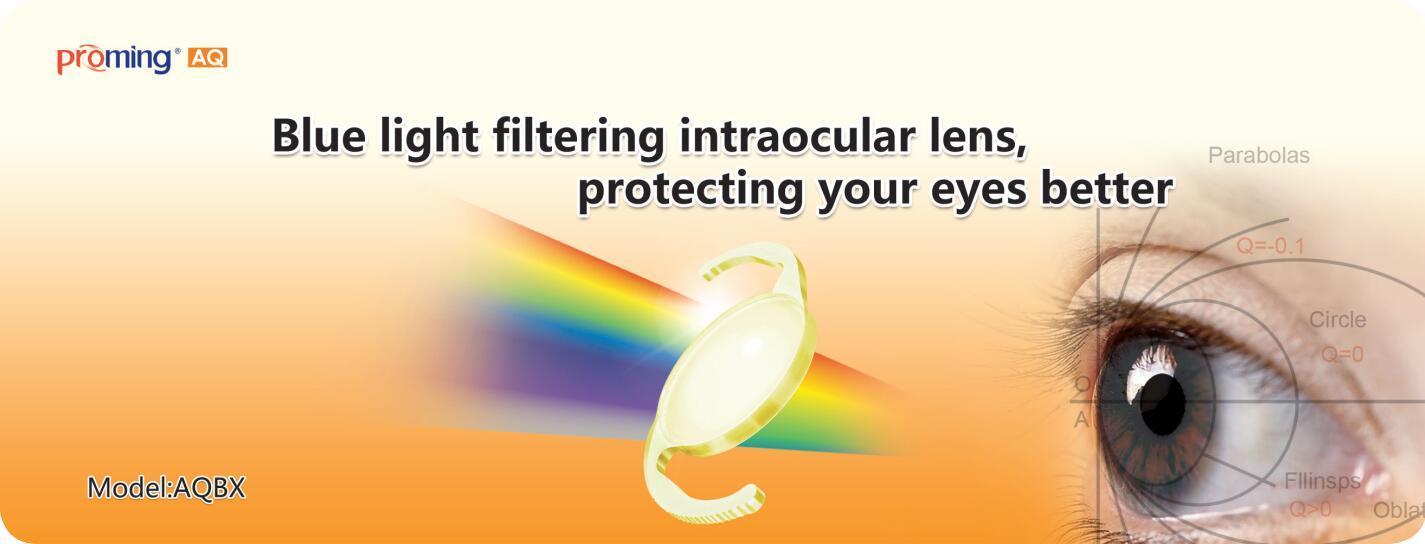 Aspheric blue light filtering intraocular Lens(IOL)