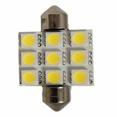9-SMD Auto Interior LED Festoon Light