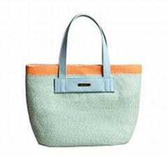Multi Color Braid Paper Tote Bag
