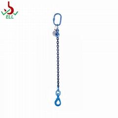 Single chain sling with swivel selflock hook -G100