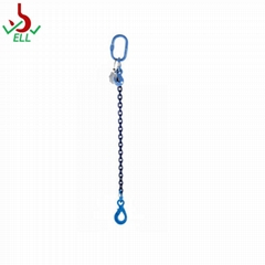 Single chain sling with eyel selflock hook -G100